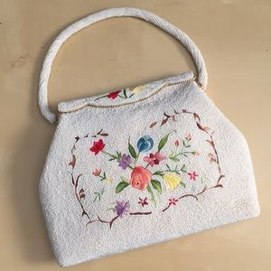 Handbags - Vintage Beaded and Embroidered Purse